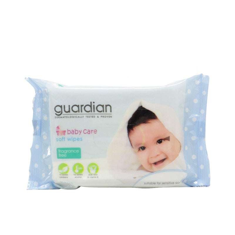 Guardian Baby Wipes Fragrance Free 20 sheets