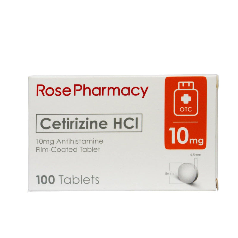 Rose Pharma Cetirizine 10 mg Tablet - 20s - Southstar Drug