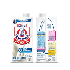 Bear Brand Sterilized Full Cream Milk 1 Liter
