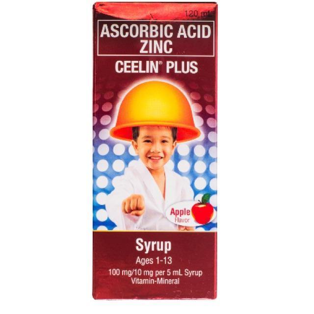 Ceelin Plus Ages 1 - 13 Apple Flavor 100 mg / 5 ml 120 ml Syrup