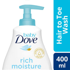 Baby Dove Hair To Toe Wash Rich Moisture 400 ml