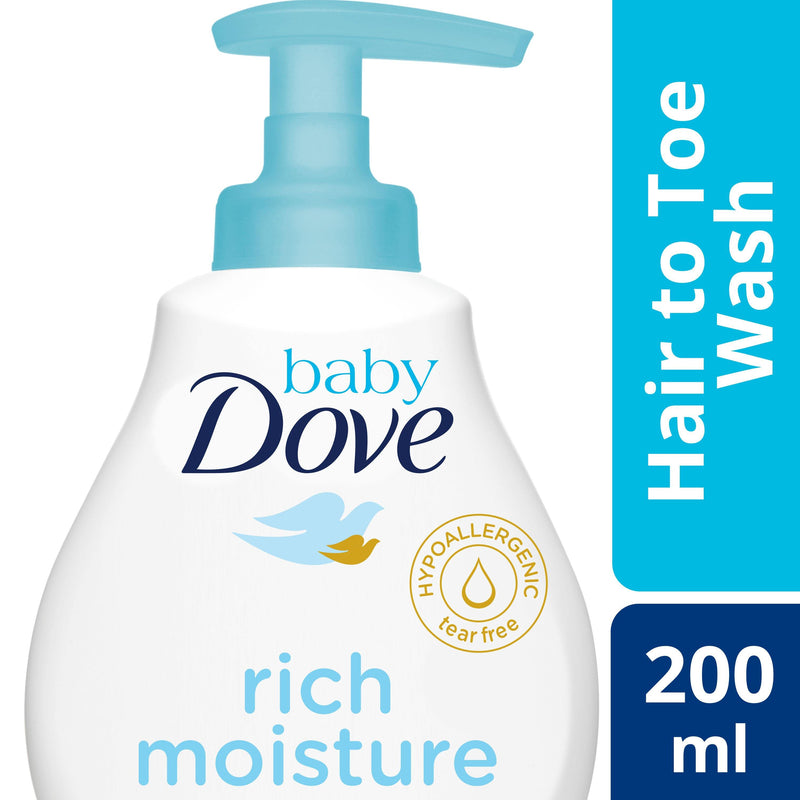 Baby Dove Hair To Toe Wash Rich Moisture 200 ml