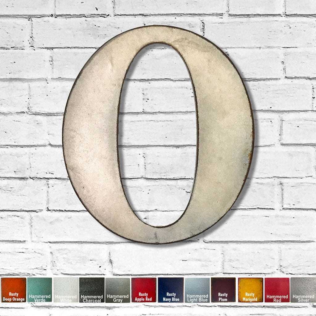 "Number 0 - Metal Wall Art Home Decor - Made in the USA - Choose 10"", 12"" or 16"" Tall - Choose your Patina Color! Choose any letter FREE SHIPPING"