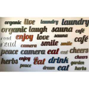 "Mangia sign - Metal Wall Art Home Decor - Handmade in the USA - Choose 17"", 23"" or 30"" Wide - Choose your Patina Color - Free Ship"