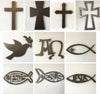 "Hollowed Cross - Metal Wall Art Home Decor - Made in the USA - Choose 11"", 17"" or 23"" Tall - Choose your Patina Color! FREE SHIPPING"