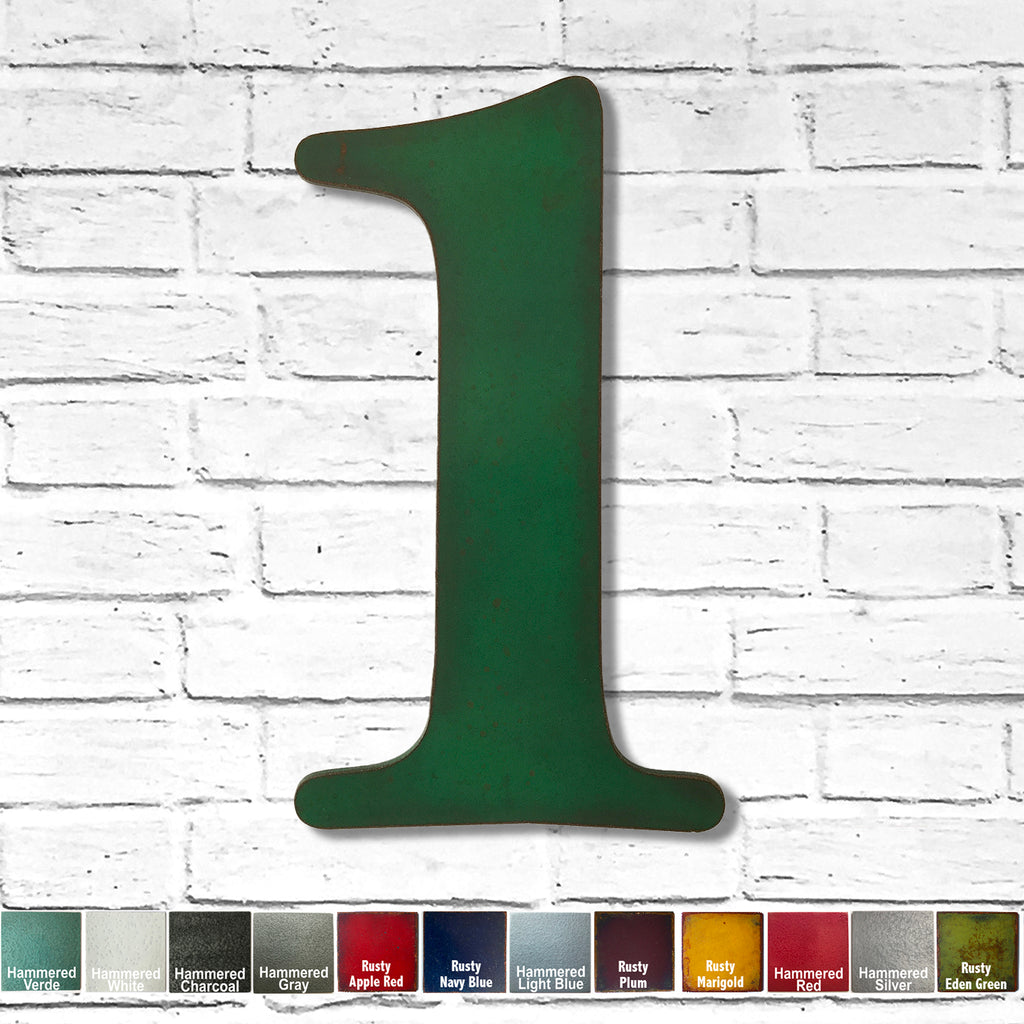 "Number 1 - Metal Wall Art Home Decor - Made in the USA - Choose 10"", 12"" or 16"" Tall - Choose your Patina Color! Choose any letter FREE SHIPPING"