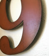 "Number 9 - Metal Wall Art Home Decor - Made in the USA - Choose 10"", 12"" or 16"" Tall - Choose your Patina Color! Choose any letter - Free Ship"
