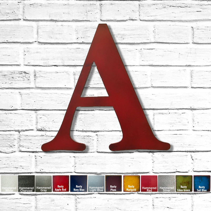Letter A - Metal Wall Art Home Decor - Made in the USA - Choose 18