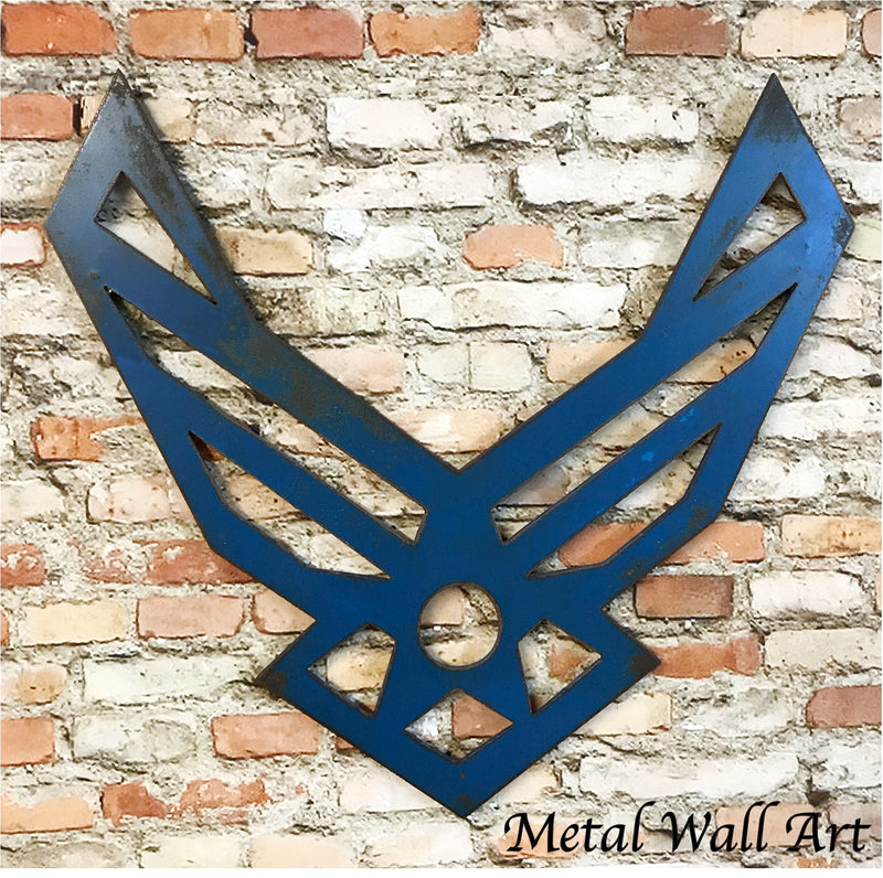 United States Air Force symbol metal wall art home decor handmade by Functional Sculpture llc