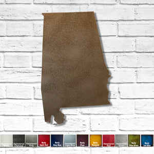 "Alabama - Metal Wall Art Home Decor - Handmade in the USA - Choose 11"", 17"" or 23"" Tall - Choose your Patina Color! Choose any State Free Shipping"