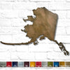 "Alaska - Metal Wall Art Home Decor - Handmade in the USA - Choose 14"", 19"" or 25"" Wide - Choose your Patina Color! Choose any state - FREE SHIP"