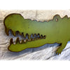"Alligator/Crocodile - Metal Wall Art Home Decor - Handmade in the USA - Choose 17"", 24"" or 36"" Wide Choose your Patina Color! FREE SHIPPING"