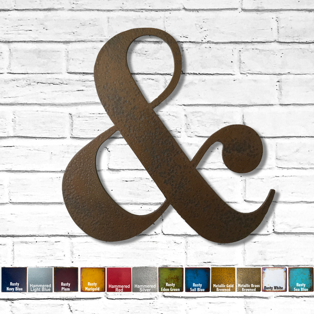 Ampersand at symbol metal wall art home decor handmade by Functional Sculpture llc