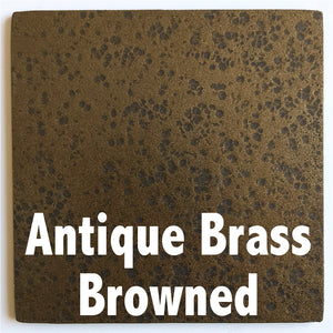"Antique Brass Browned sample piece - 3"" x 3"" Metal Art Color Swatch - Handmade in the USA - FREE SHIPPING"