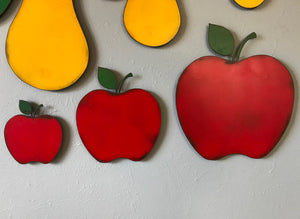 "Apple - Metal Wall Art Home Decor - Handmade in the USA - Choose 8"", 12"" or 17"" Tall"