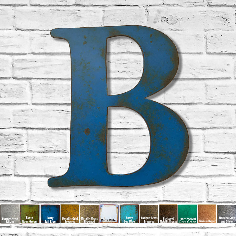 alphabet letter b metal wall art home decor cutout handmade by Functional Sculpture llc