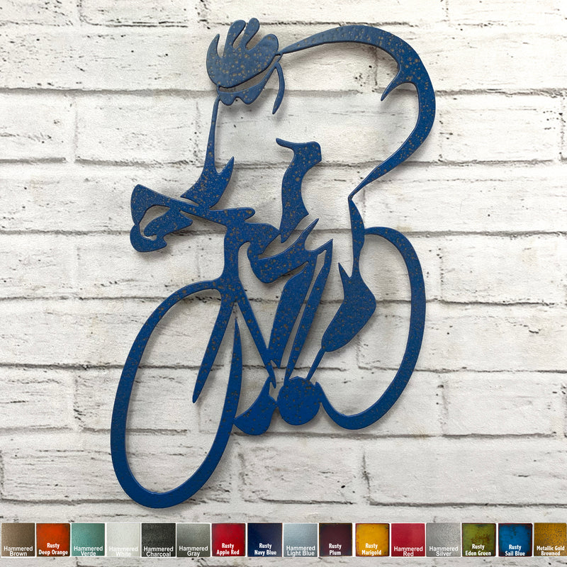 Road Bicycle - Metal Wall Art Home Decor - Handmade in the USA - Choose 14