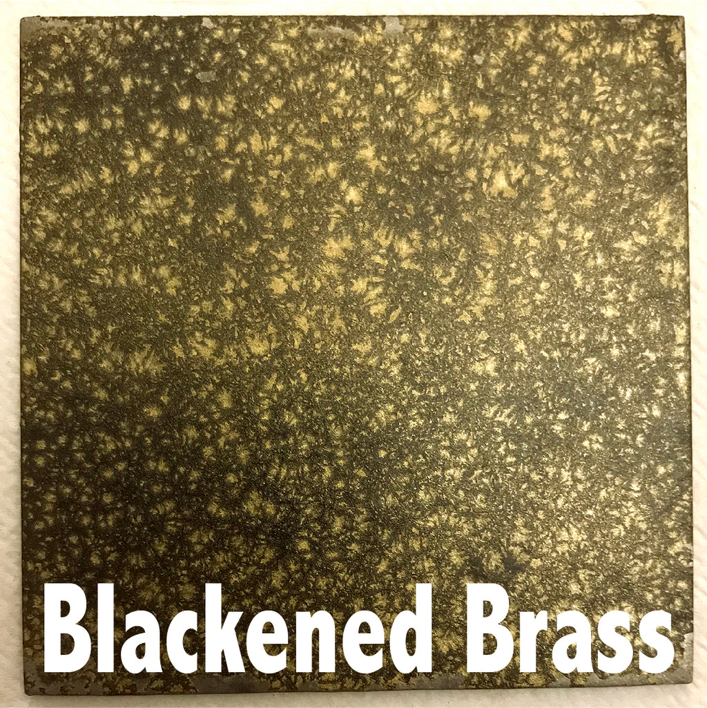 "Blackened Brass sample piece - 3"" x 3"" Metal Art Color Swatch - Handmade in the USA - FREE SHIPPING"
