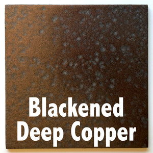 "Blackened Deep Copper sample piece - 3"" x 3"" Metal Art Color Swatch - Handmade in the USA - FREE SHIPPING"