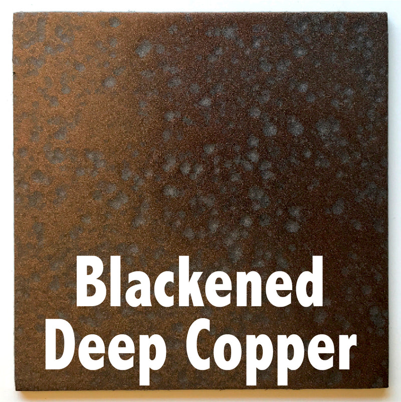 Blackened Deep Copper sample piece - 3