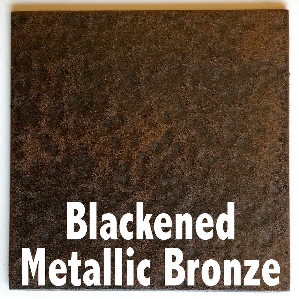 "Blackened Metallic Bronze sample piece - 3"" x 3"" Metal Art Color Swatch - Handmade in the USA - FREE SHIPPING"