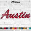 Custom Name or Word - Brush Script Font - Medium Size - Metal Wall Art Home Decor - Choose your Patina Color - FREE SHIPPING