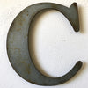 "Letter C - Metal Wall Art Home Decor - Made in the USA - Choose 10"", 12"" or 16"" Tall - Choose your Patina Color! Choose any letter FREE SHIPPING"