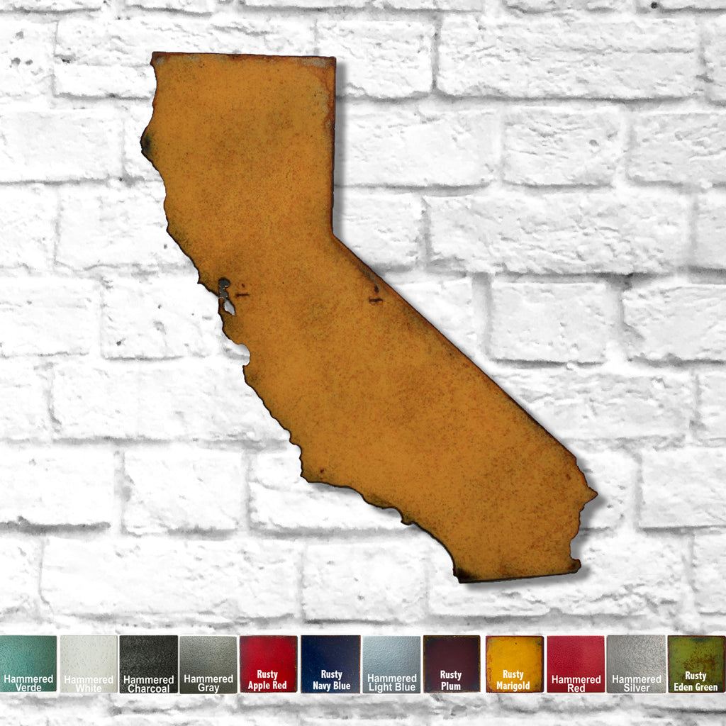 California map metal wall art home decor handmade by Functional Sculpture LLC