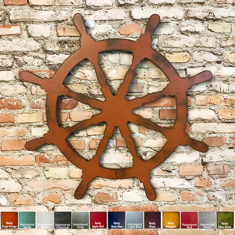 Captain's Wheel - Metal Wall Art Home Decor - Handmade in the USA - Choose 11