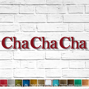 Custom Order - Cha Cha Cha - Finished in Hammered Red - Metal Wall Art - Outdoor Installation - Payment Two