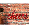 "cheers sign - Metal Wall Art Home Decor - Handmade in the USA - Choose 17"", 24"" or 30"" Wide - Choose your Patina Color - Free Ship"