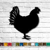 Chicken rooster shaped metal wall art home decor cutout handmade by Functional Sculpture llc