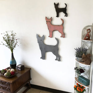 "Chihuahua - Metal Wall Art Home Decor - Handmade in the USA - Choose 11"", 17"" or 23"" Wide - Choose your Patina Color! FREE SHIPPING"