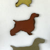 Cocker Spaniel dog shaped metal wall art home decor cutout handmade by Functional Sculpture llc
