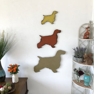 "Cocker Spaniel - Metal Wall Art Home Decor - Handmade in the USA - Choose 11"", 17"" or 23"" Wide - Choose your Patina Color! FREE SHIPPING"
