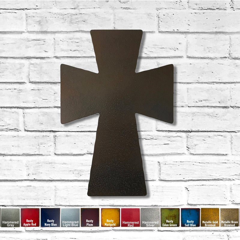 "Beefy Cross - Metal Wall Art Home Decor - Made in the USA - Choose 11"", 17"" or 23"" Tall - Choose your Patina Color! FREE SHIPPING"