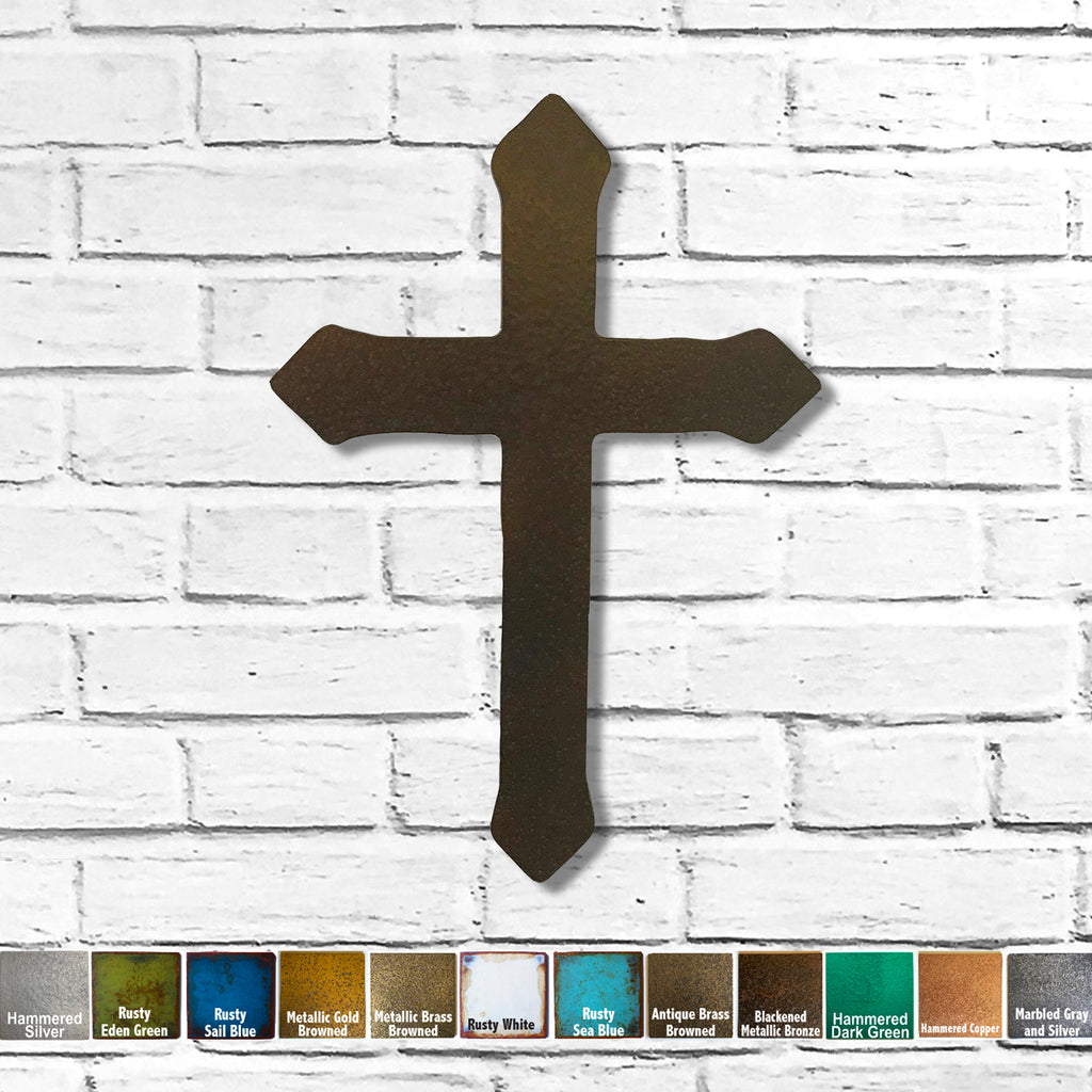 cross with flared tips symbol metal wall art home decor handmade by Functional Sculpture llc