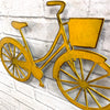"Bicycle with Basket - Metal Wall Art Home Decor - Handmade in the USA - Choose 14"", 17"" or 23"" Wide - Choose your Patina Color! FREE SHIPPING"