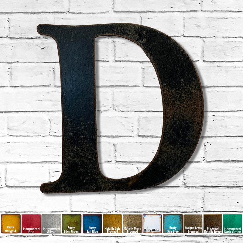 Letter D - Metal Wall Art Home Decor - Made in the USA - Choose 10