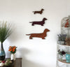 "Dachshund - Metal Wall Art Home Decor - Handmade in the USA - Choose 11"", 17"" or 23"" Wide - Choose your Patina Color! FREE SHIPPING"