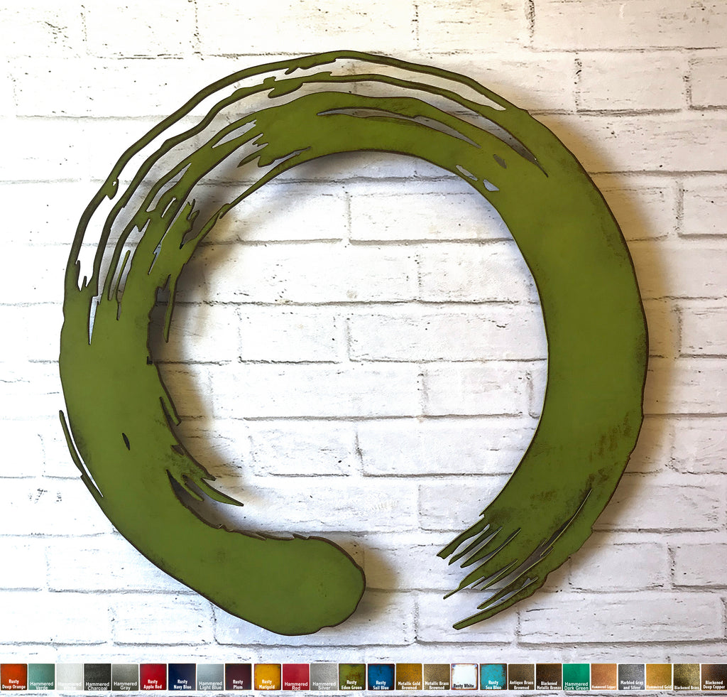 Enso circle symbol metal wall art home decor handmade by Functional Sculpture llc