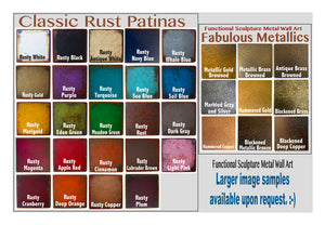 "Rusty Plum Sample piece - 3"" x 3"" Metal Art Color Swatch - Handmade in the USA - FREE SHIPPING"