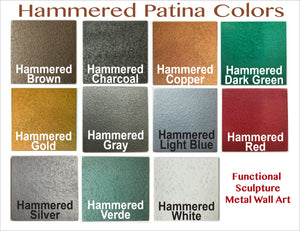 "Hammered Charcoal piece - 3"" x 3"" Metal Art Color Swatch - Handmade in the USA - FREE SHIPPING"
