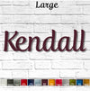 Custom Name or Word - Fertigo Font - Large Size - Metal Wall Art Home Decor - Choose your Patina Color - FREE SHIPPING