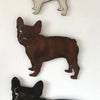 "French Bulldog - Metal Wall Art Home Decor - Handmade in the USA - Choose 11"", 17"" or 23"" Wide - Choose your Patina Color! FREE SHIPPING"