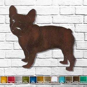 French bulldog dog metal wall art cutout home decor handmade by Functional Sculpture llc