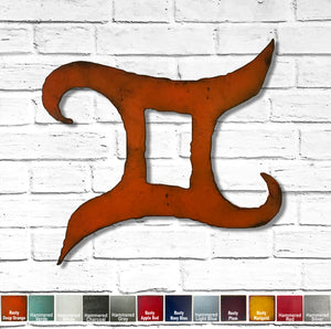 "Sagittarius Symbol - Metal Wall Art Home Decor - Made in the USA - Choose 11"", 17"" or 23"" Tall - Choose your Patina Color - Free Ship"