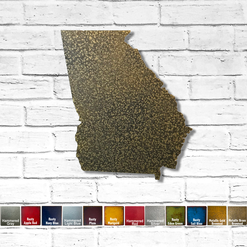 "Georgia - Metal Wall Art Home Decor - Made in the USA - Choose 10"", 16"" or 22"" Tall - Choose your Patina Color! Choose any state FREE SHIPPING"