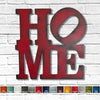 "HOME sign - Robert Indiana Style - Metal Wall Art Home Decor - Handmade in the USA - Choose 9"", 11"",  or 17"" - Choose your Patina Color - Free Ship"