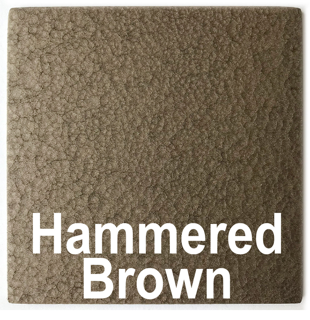 "Hammered Brown sample piece - 3"" x 3"" Metal Art Color Swatch - Handmade in the USA - FREE SHIPPING"